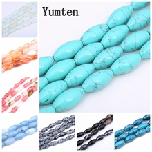 купить Yumten Round Turquoise Bead 10mm* 20mm Natural Stone Gem Beads Wholesale Handmade Making Jewelry DIY Bracelet Women Accessories по цене 515.19 рублей