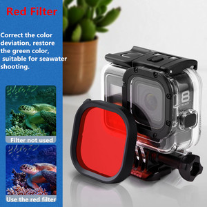 Image 4 - Original Waterproof Case Filter Protective Shell Purple Pink Red Filters For Gopro Hero 8 Black Action Camera Accessories