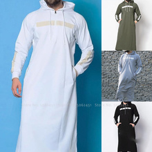 Men Jubba Thobe Islamic Clothing Arab Robes Kaftan Muslim Dress Saudi Arabia Abaya Blouse Kurta Fashion Hoodies Arabic Clothes