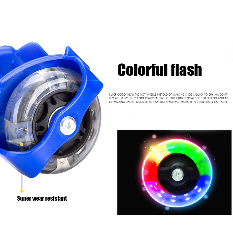 Hot 1 Pair Colorful Flashing Roller Whirlwind Pulley Flash Wheels Heel Roller Adjustable Simply Roller Skating Shoes Adult