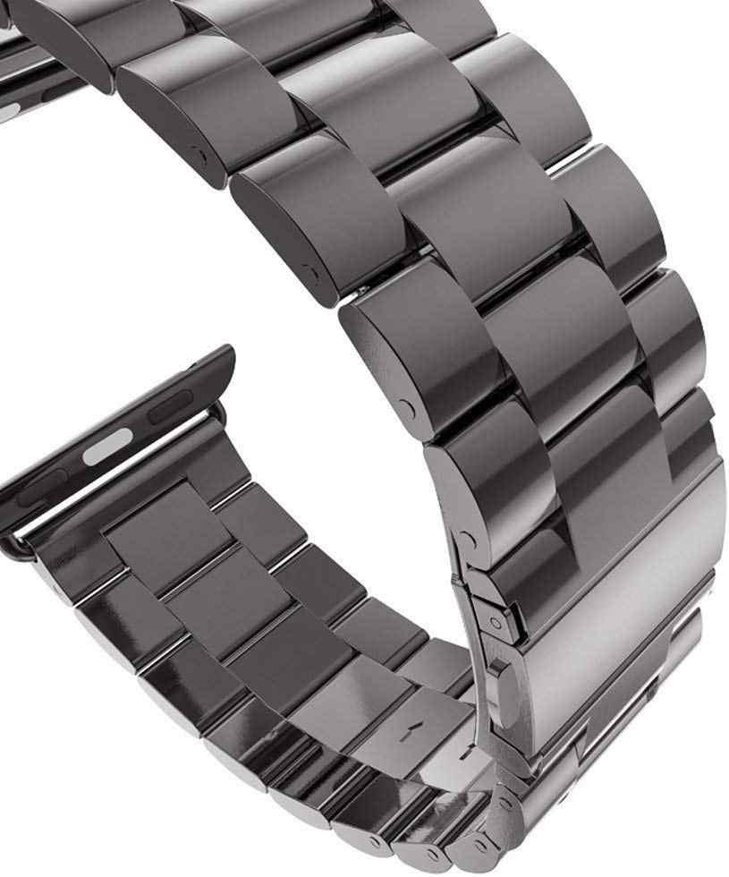 Correa de acero inoxidable para Apple Watch Band 5 4 3 40mm 44mm Correa 38mm 42mm pulsera deportiva para iWatch 5 4