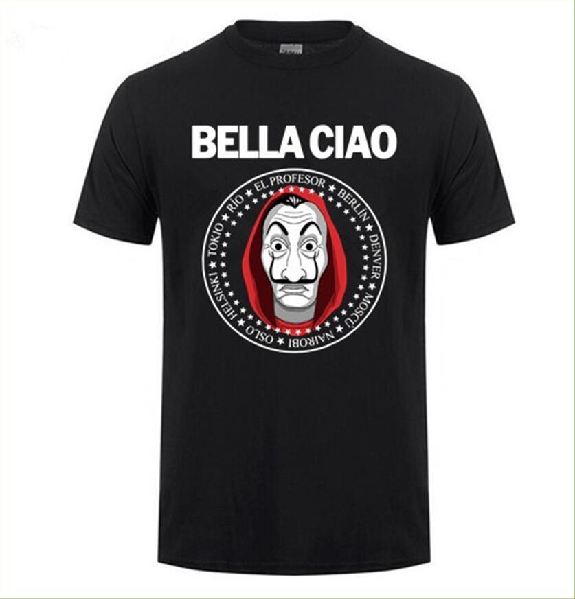 Brand Clothing House Of Paper Money Heist La Casa De Papel T Shirt Short Sleeve T-shirt For Men Plus Size XS-3XL Cotton Team Tee