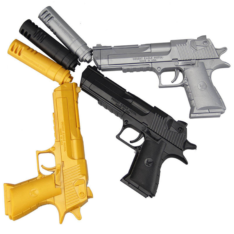 DIY Assembling Gun Toy Pistol Can Fire Bullets Mini Plastic Military Model Soft Bullet Gun Outdoor Game Toys For Boys Gifts