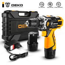 DEKO New Arrival Banger 12V 16V 20V Cordless Drill Electric Screwdriver Mini Wireless Power Driver DC Lithium-Ion Battery 3/8-In(China)
