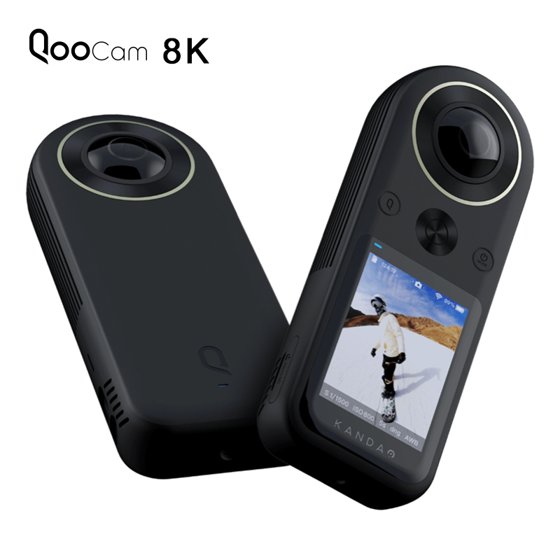 Kandao Qoocam 8K 360 VR Action Camera with 2.4 Inch Touch Screen 4K 360 Live Streaming 8K 30fps 4K 120fps APS C Image Quality