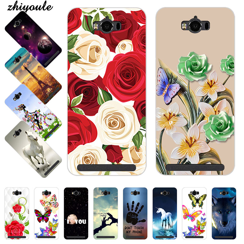 Colorful Cell Phone Covers Case for Asus Zenfone MAX ZC550KL ASUS_<font><b>Z010DD</b></font> <font><b>Z010DD</b></font> Z010DA Soft TPU Cases Printed Back Cover Capa image