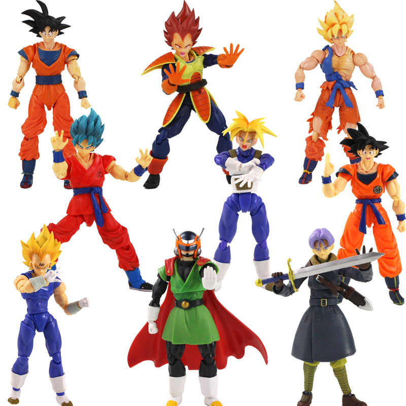 Shf Dragon Ball Z Broly Evil Buu Super Saiyan Vegeta Trunks Zoon Goku Zoon Gohan Master Roshi Brinquedos Action Figure model Speelgoed