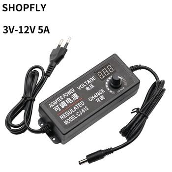 1pcs Adjustable 3V 4V 5V 6V 7V 8V 9V 10V 12V 2A 3A 5A Power Adapter Supply Display Screen