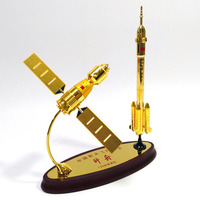1/80 Scale China Shenzhou 11 & Long March 2 Spacecraft Model Alloy Metal Spacecraft Space Ship Satellite Rocket Display Model