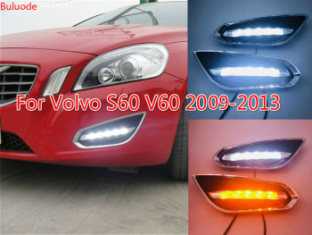 For Volvo S60 V60 2011 2012 2013,Light-Off Style Relay Waterproof Matte ABS Car DRL 12V LED Daytime Running Light Daylight
