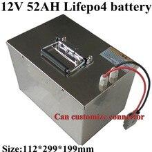 12V 50Ah 52Ah LiFepo4 Paquete de batería para RV carro de Golf marino UPS EV almacenamiento de energía Solar LED Motorhome + 5A cargador
