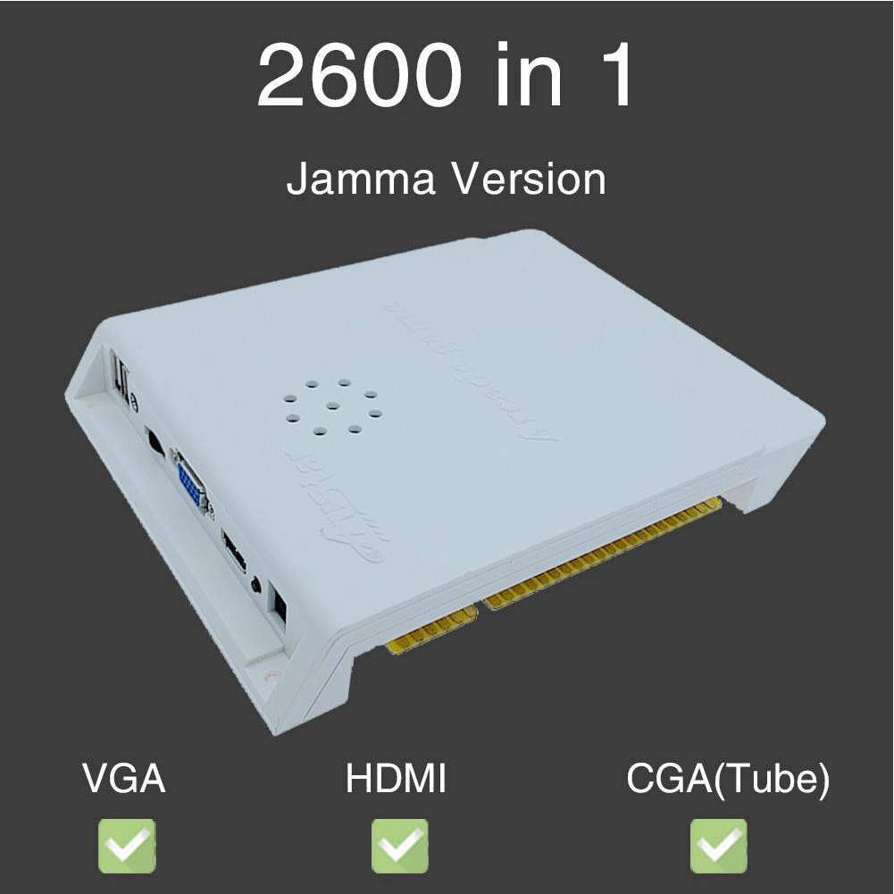 2600 In 1 Controller Jamma Board HD Video Kids Portable 3D Console Educational Arcade Version Coin Operated Game Box For Pandora