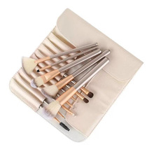 2019 New 12 White Makeup Brush Set 18 Champagne Gold Handle 24 Beauty Tools