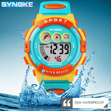 2021 New SYNOKE Watches For Kids Colorful Electronic Watchwrist 50M Waterproof Clock Children Digital Watch Boys Girls Gift Swim
