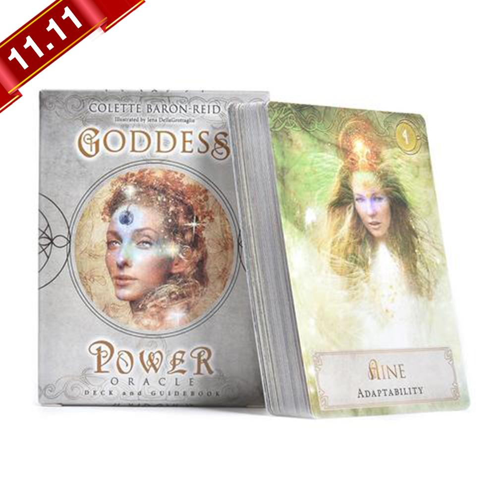New 52Pcs Sheets Tarot Cards Goddess Power Oracle Deck Games Guidebook Table Board Game Playing Card For Family Party Gift Games