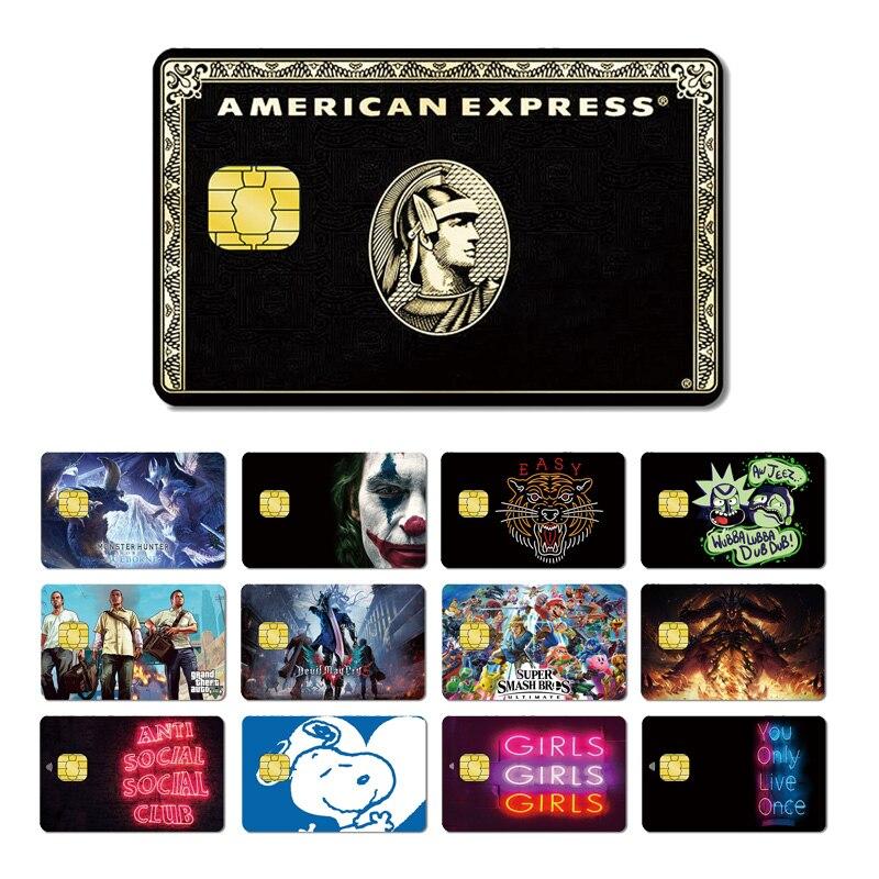 Magic Shark Joker Tiger GTA5 Cartoon Game Cool PVC Stereo No Fade Skin Sticker Film Case For Credit Debt Card Drop Shipping