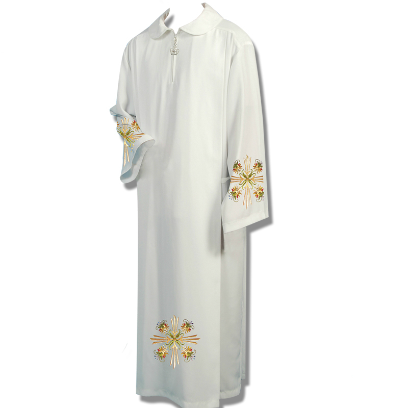 Clergy Robes Catholic Church Utensils Priest Robe White Church Gown Costume Christian Religious Etiquette Supplies