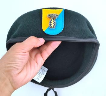 Nowa armia amerykańska 8 Siły specjalne grupa wełna zielony Beret siły specjalne AIRBORNE METAL insygnia czapka wojskowa czapka 1963 ~ 1972 tanie i dobre opinie CINESSD Z wełny CN (pochodzenie) Dla dorosłych Stałe Formalne