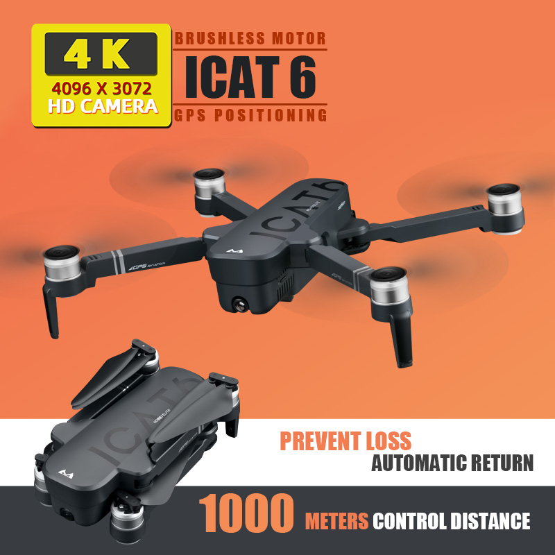 ICAT6 toys dron drone 4k drones gps with camera HD rc helicopter profissional dron selfie