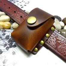 Blongk складной чехол для очков из натуральной кожи поясная