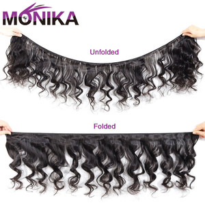 Image 2 - Monika Cambodjaanse Haar Losse Golf Bundels 100% Human Hair Weave Bundels Deals Non Remy Haar Weven 1/3/4 bundels Hair Extensions