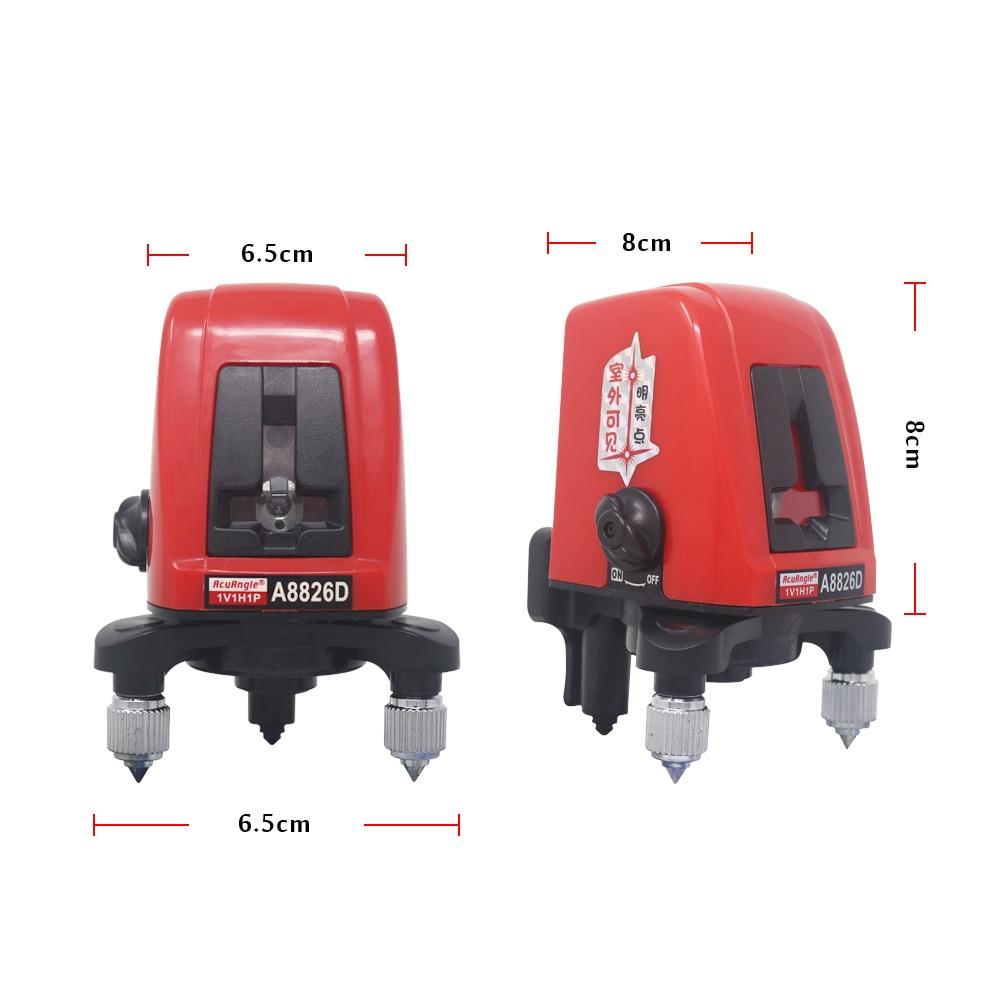 Level Meter Amp Leveling Tool Vertical 2 Laser Laser Laser Red A8826D Level For Line Lines Cross Horizontal Self  Tripod  Level Beam