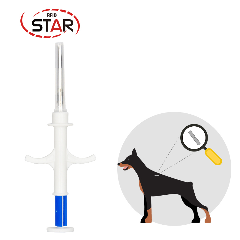 Mini Injectable Rfid Animal Pet Dog Microchip EM4305 ISO FDX-B 134.2KHz Dog Cat Horses Microchip Tag With Syringe