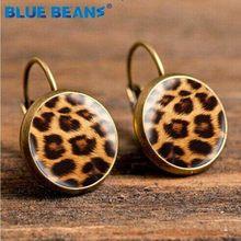 Brincos pequenos do parafuso prisioneiro feminino estrela earing jóias punk vintage leopardo boho moda boêmio presentes de luxo geométrico elegante brinco