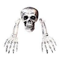 Halloween Skeleton Bone Plastic Lifelike Human Bones Horror Skull Figurine Party Theme Home Ornaments Decoration