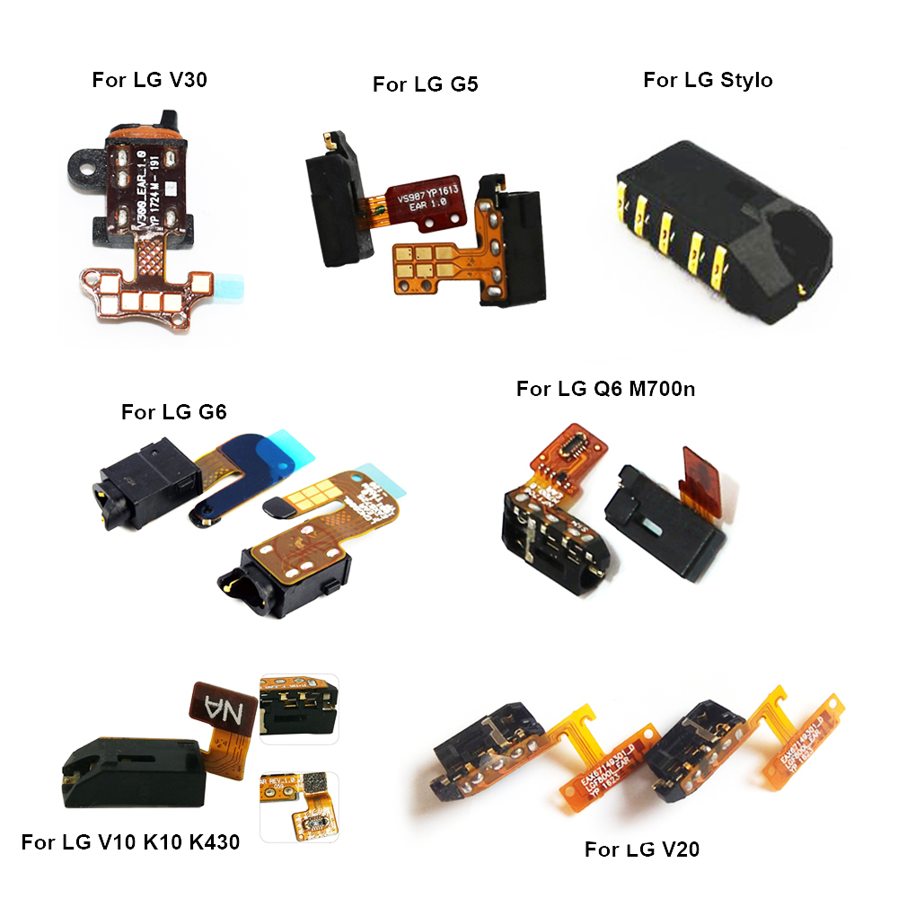 Original Audio Jack Flex Cable For LG V10 K10 K430 Earphone Headphone Plug Replacement Parts For LG G6 G5 V20 V30 Q6 Plug