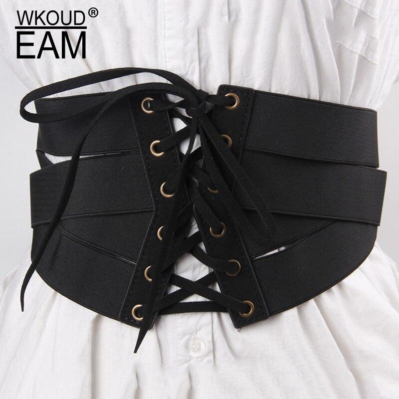2020 New Design High Fashion Leather Belts For Women Solid Zipper Drawstring Corset Belt Elastic Waistband Female Trendy ZL096