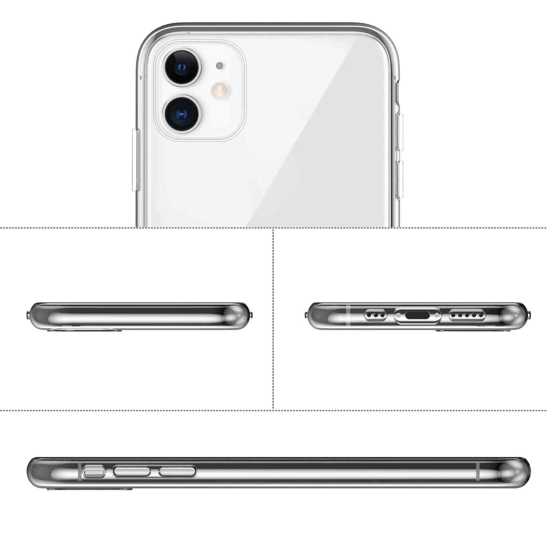 "Iphone 11 (2019) iphone XS 最大ケース、 WEFOR スリムクリアソフト Tpu カバーサポートワイヤレス充電アップル 6.1 ""iPhone XS/XR (2018 リリース)"