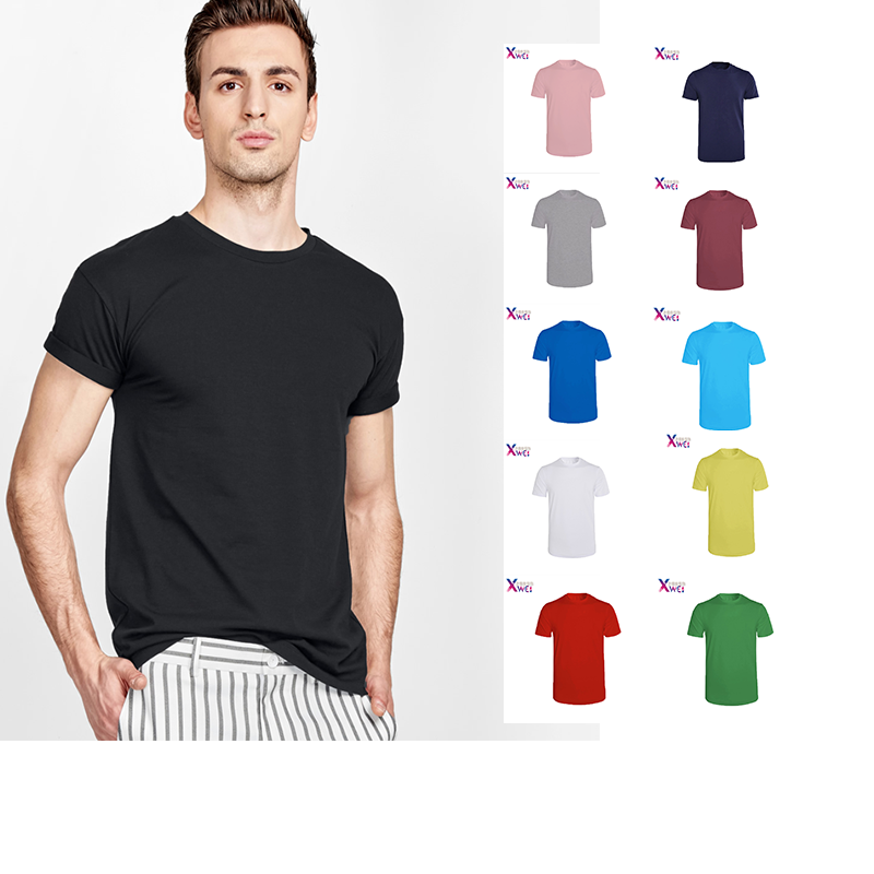 New Pure Color Men's T-shirt, T-shirt, Men's T-shirt, T-shirt, Women Hip Hop, Skateboard, Fashion, Casual T-shirt, Cotton XWEI