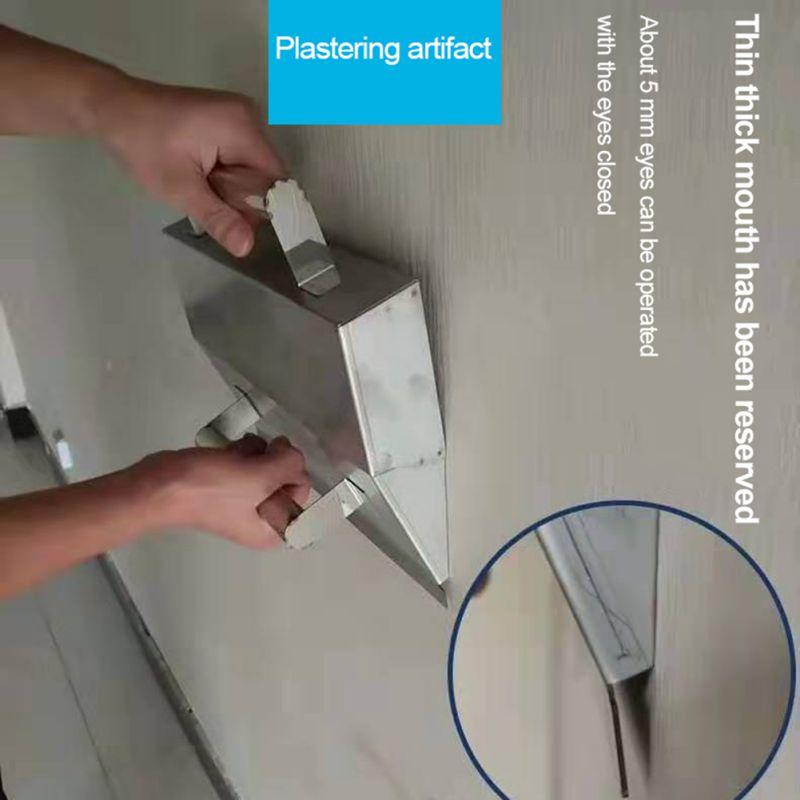 Бетонный шпатель из нержавеющей стали, штукатурные инструменты для кирпичной кладки, декоративный шпатель, строительные инструменты для