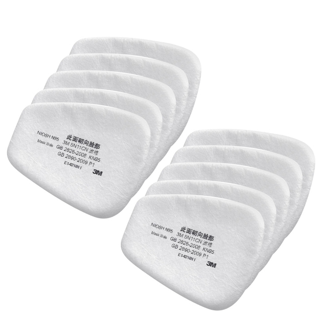 10PCS 6200 Dust Masks Paint Special Protective N95 Mask Anti-dust Dust 5N11 Filter Cotton Raw Materials 3