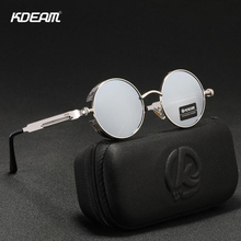 KDEAM Brand Women Polarized Sunglasses Round Designer UV400 Protection Sun glasses Retro Drive Fashion Shades
