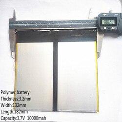Tablet PC talk9x u65gt,battery 3.2*132*182 3.7V 10000 mah Li - ion battery 'for 32132182