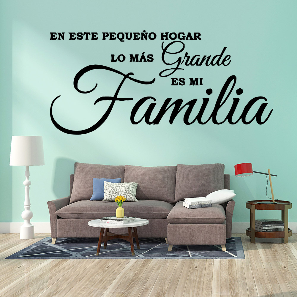 Family Familia Phrase Pvc Wall Decals Home Decor Removable Wall Sticker Home Decoration Wallpaper