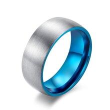 Seele männer Ringe für Frauen 2021 trend Glänzend Zeichnung Titan Stahl 8mm 3 Farbe Inneren Kreis Blau Gold und schwarz