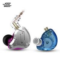 Kz zs10 pro metal fone de ouvido 4ba + 1dd híbrido 10 unidades alta fidelidade graves fones de ouvido no monitor esporte com cancelamento ruído