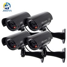 Dummy מצלמה 4 חבילה חיצוני מזויף Dummy אבטחת מצלמה LED אור CCTV מעקב שווא מצלמה שחור