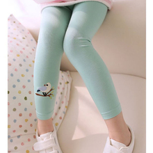 цена на Trendy Kid Toddlers Warm Leggings Baby Kid Girl Bird Pattern Stretchy Pants Trousers Free & Drop Shipping