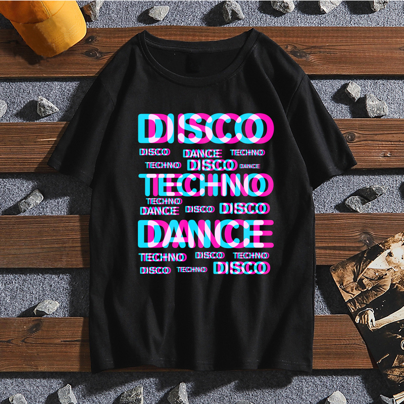Dj Techno New Arrival Men Summer Short Sleeve Women T-Shirt Funny Print Tshirt