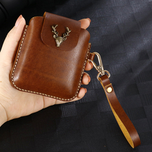 for Samsung Galaxy Z Flip Belt Clip Holster Case Cover for Galaxy Z Flip Genuine Leather Waist Bag Coque