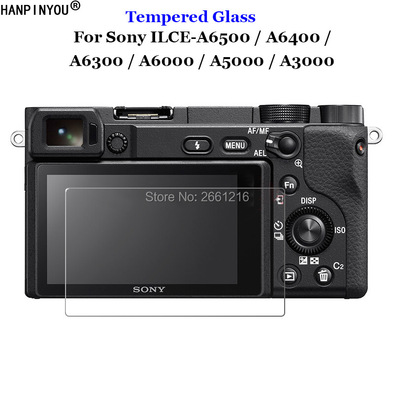 For Sony ILCE-A6500 / A6400 / A6300 / A6000 / A5000 / A3000 Tempered Glass 9H 2.5D Camera Screen Protector Film