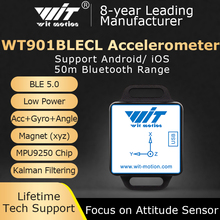 WitMotion WT901BLECL BLE 5.0 Low consumption 3 Axis Accelerometer+Gyroscope+Magnetometer MPU9250 For IOS/Android, 50meters range