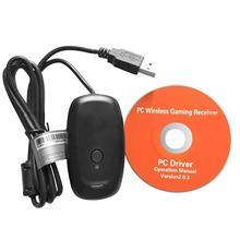 Беспроводной геймпад, ПК адаптер, USB приемник для Microsoft Xbox 360, игровой контроллер консоли, USB ПК приемник с CD драйвером