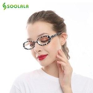 Image 4 - SOOLALA 5 Pairs śliczne owalne mała ramka do czytania okulary kobiety oprawki do okularów okulary korekcyjne 0.5 0.75 1.0 1.25 do 4.0