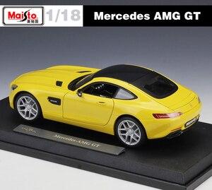 Image 3 - Maisto ダイキャスト 1:18 メルセデスベンツ AMG GT/SLS/500 18K スポーツ車の金属モデル車スーパーカー合金のおもちゃ子供のためのギフトコレクション