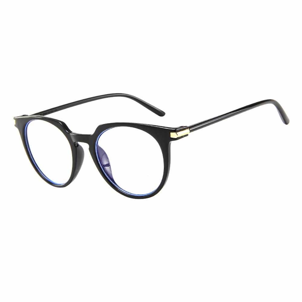 2019 חדש עיצוב קיץ אופנה סגלגל עגול ברור עדשת משקפיים בציר חנון Nerd רטרו סגנון מתכת Eyewear אביזרי יוקרה